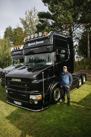 Daniel Sörensen hade kört från Norge för att delta på träffen.