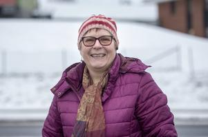 Ann-Cathrin Hübinette, 62 år, sjukpensionär, bor i byn Saxen.