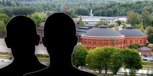 De två männen ska ha börjat slåss utanför Gasklockorna i Gävle.