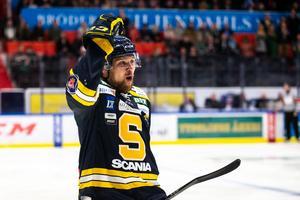 Ludwig Blomstrand stod för nya poäng i förlustmatchen mot Tingsryd. Bild: Andreas Sandström, Bildbyrån.