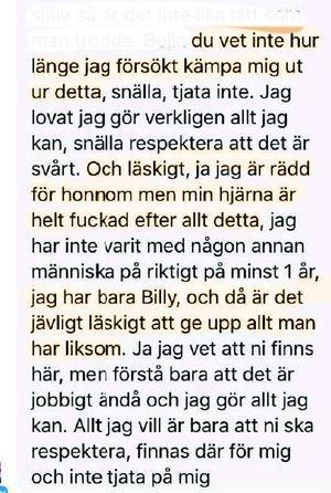 Tova Moberg skriver om sina rädslor i samband med att hon gjort slut med Billy Fagerström.