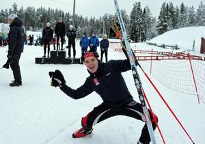 Oskar Ohlsson från Tännäs går starkt i skidskyttets Swecup.Foto: Oskar Karlsson