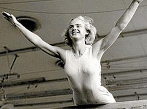 Karin Lindén tog OS-guld i gymnastik 1952 och tävlade i tre OS. Arkivbild