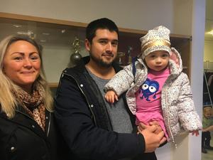 Evelina, Renato och Emma Cruz tittade på Babblarna.