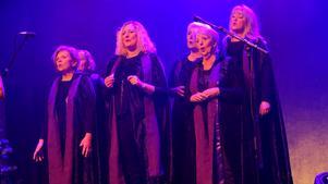 The Christmas Choir - som kommer från Gefle Forum ska ha en eloge. De lokala gospeldamerna fick även visa vad de går för solo.
