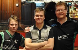 Från vänster: Dennis Andersson BK Karma, Andreas Grönstrand BK Plus, Magnus Lindkvist Ludvika BK. Foto: Lars-Göran Hallström
