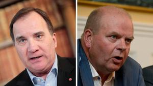 Statsminister Stefan Löfven (S) och förre landsbygdsministern Eskil Erlandsson (C). Foto: Kicki Nilsson/TT och Pontus Lundahl/TT