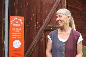 Lena Svenonius är ordförande i Björkö-Arholma hembygdsförening som i år arrangerar konstrundan för elfte året i rad.