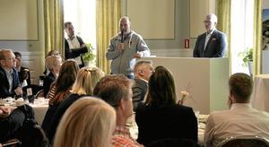 Publikrekord. Torsdagens företagarfrukost hade 95 föranmälda gäster och det brukar komma tiotalet till.
