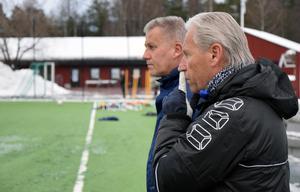 Lasse Ericson och Morgan Kullberg, två brickor i IFK Moras stora ledarstab.