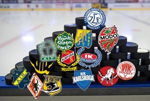 Skillnaden är stor mellan de hockeyallsvenska klubbarna – Leksand ligger bäst till, medan det är mycket utsatt läge för exempelvis Karlskrona och Pantern. Foto: Nils Jakobsson / Bildbyrån (montage av Hockeypuls)