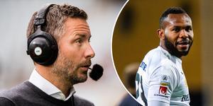 ÖSK-managern Axel Kjäll bekräftar att det finns ett intresse för yttern Michael Omoh som placeras i superettanklubben Mjällby AIF.
