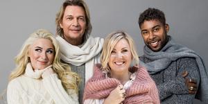 Wiktoria Johansson, Tommy Nilsson, Elisa Lindström och John Lundvik är den nya kvartetten i Christmas Night. Foto: Rickard L Eriksson