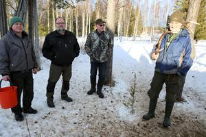 Kenneth Andersson, Johnny Wernersson, Hans Ruste och Nils Björklund.