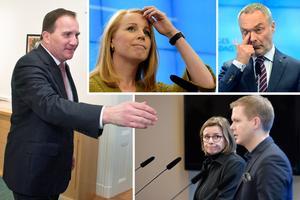 I den överenskommelse som regeringsföreträdarna Stefan Löfven (S), Isabella Lövin (MP) och Gustav Fridolin (MP) slutit med Annie Lööf (C) och Jan  Björklund (L) finns frågan om kompetensutvisningar med. Foto: TT