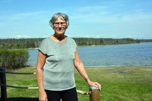 Anita Landén hemma i Långroudden, ungefär en kvarts bilresa från E4 i Idbyn.