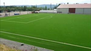 Konstgräsplanen i Järpen som delvis  finansierades av Arvsfonden.