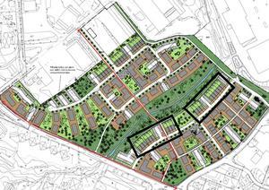 Kartan visar byggrätterna som Kopparstaden nu säljer. Bild: Kopparstaden