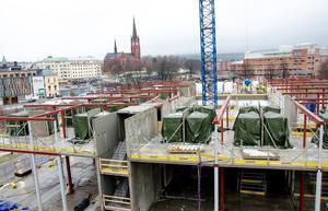 Det nya hotellet håller på att ta form. Ett uppdrag som är värderat till 350 miljoner kronor.