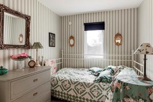Ett av sovrummen.  Foto: SE360