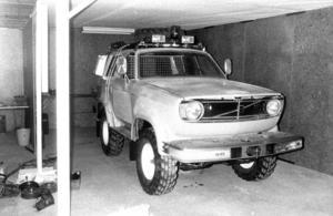 En salig blandning byggt av Olle Nilsson, Ope var med på mässan 1983. Det var en kortad Volvo 145 kombi med en dieselmotor från Peugeot på ett chassi från Volvos terrängbil