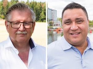 Centerpartiets gruppledare Tage Gripenstam och Kristdemokraternas dito, David Winerdal. Foto: Nellie Pilsetnek