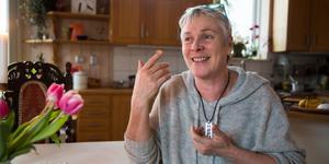 """LT träffade Annette Ahrenberg 2017. """"Hade det inte varit för Vidarkliniken tror jag att jag hade mått väldigt dåligt i dag"""", säger hon. Bild: Stina Lagerkvist"""