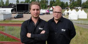 Patrik Hedenström och Krister Lindholm är de som lägger ned mest tid på arrangemanget Sabaton Open Air.
