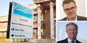 Göran Björkman, chef för Sandvik Materials Technology, och Sandviks vd Björn Rosengren kommenterar beskedet.