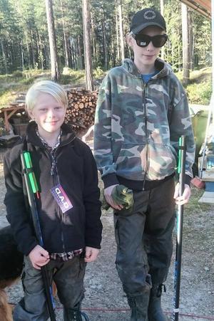Rasmus Wärn, Lammhult vann och Emil Alveflod, Vårgårda kom tvåa i ungdomsklassen.Foto: Läsarbild