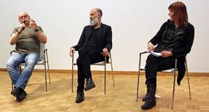 Arne Andersson, Niklas Hjulström och Gunilla Kindstrand diskuterar Norgbergsspelen.
