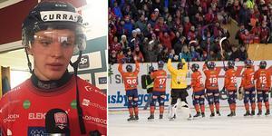 Oscar Wikblad blev matchhjälte när Edsbyn slog ut Bollnäs i tre raka matcher. Bild: Peter Axman/TT