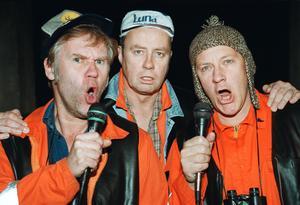Gammal bild på Pistvakt, med Thomas Norström, Lennart Jähkel och Jacob Nordenson.  Bild: Henrik Montgomery