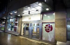 Socialdemokraternas partihögkvarter på Sveavägen 68 i Stockholm.