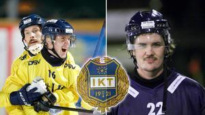 Stig Fischer och Hampus Krantz är klara för en fortsättning i Tellus. Dessutom är flera nyförvärv på gång enligt sportchefen. Bild: TT / Bandypuls.