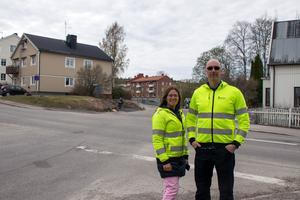 Korsningen Sidsjövägen/Sveavägen ska nu byggas om och stängs av för all motortrafik i en månad.