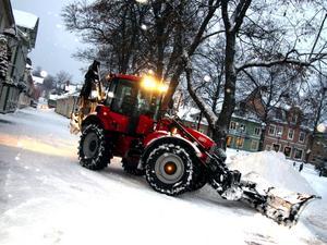 Entreprenad. Snöröjning är ett exempel på verksamhet om Säters kommun har upphandlat och lagt ut på entreprenad. Foto: ROLAND BERG