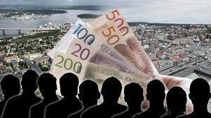 Kronofogden jagar tio skuldsatta länsbor.