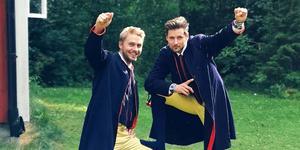 Patric och Nils gillas på Spotify och hos livepubliken.  På lördag får de ta emot stipendium i kulturhuset.