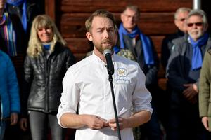 Årets kock 2017 Johan Backéus, som har sina rötter i Matfors, höll vårtalet.