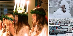 Lucia och snö dominerade bildfloran vecka 50.
