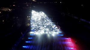Starten av Nattvasan med närmare 2000 pannlampor.