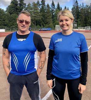 Lars och Carina Bollnäs friidrott tog varsitt silver i Veteran SM i kastfemkamp.
