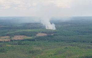 Läsarbild från branden.