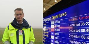 Dimman och tekniska problem orsakade problem på Åre Östersund airport. Åtta flyg ställdes in på måndagen. Arkivbilder.