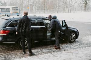 Taxi utanför Västerås flygplats. Bild: Martin Bohm