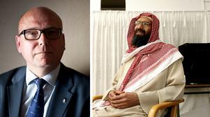Magnus Ranstorp, forskare på försvarshögskolan och expert på terrorism och extremism, och Abo Raad, imam i Gävle. FOTO: Victor Lundberg / TT/Arkiv