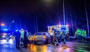 Olyckan inträffade på Dalavägen i Krylbo. Foto: Niklas Hagman