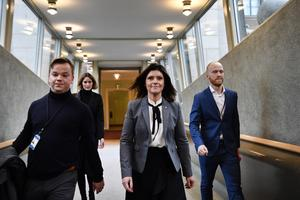 Arbetsmarknadsminister Eva Nordmark (S). Foto: Henrik Montgomery / TT