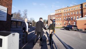 Patrik Stenvard, M, hälsade Ulf Kristersson välkommen.
